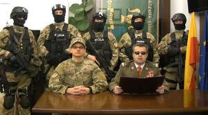Burmistrz parodiuje Jaruzelskiego
