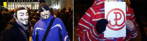 W masce lub z kotwicą: tak protestowali przeciw ACTA