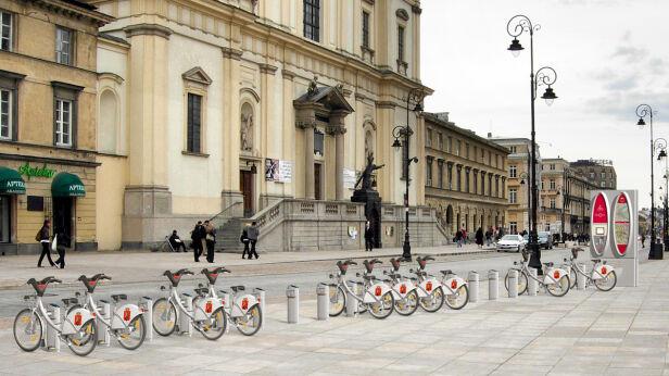 Jedna z propozycji systemu roweru publicznego, fot. JC Decaux