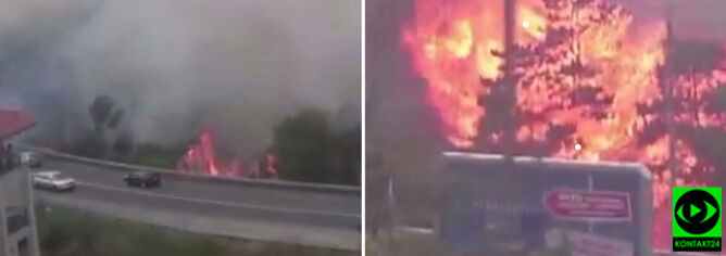 Wielki pożar w Bułgarii, zagrożeni turyści