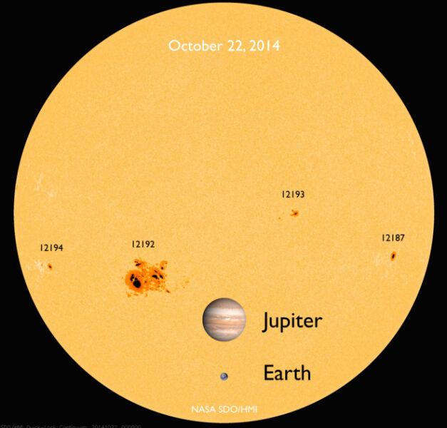 AR12192 to największa plama na Słońcu od 24 lat