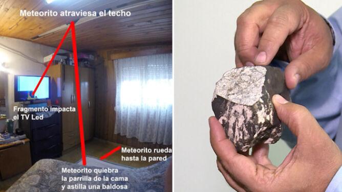 Meteoryt wpadł przez dach. Kosmiczną skałę badają naukowcy