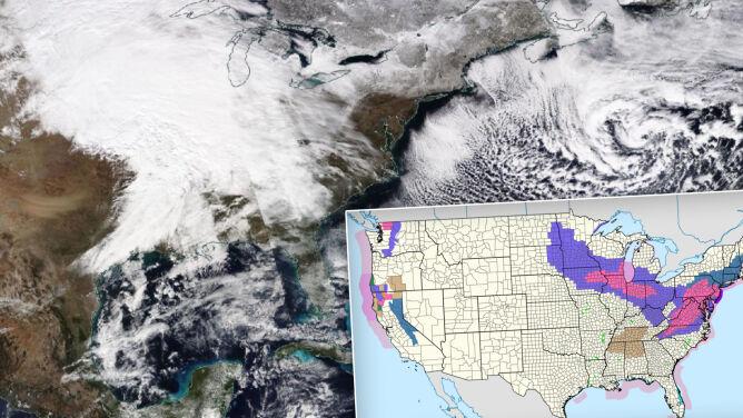 Do Waszyngtonu nadchodzi pierwsza śnieżyca od 709 dni